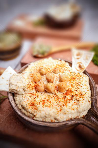 Close up of hummus Stock photo © grafvision