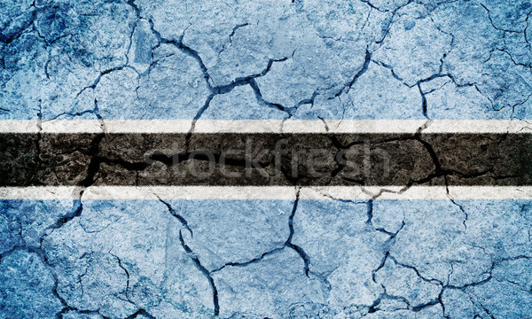 Stock photo: Republic of Botswana flag