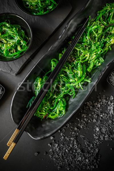 Wodorost Sałatka popularny japońskie jedzenie przekąska Zdjęcia stock © grafvision