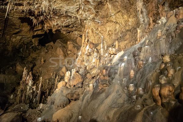 Calcário dentro caverna parede natureza fundo Foto stock © grafvision