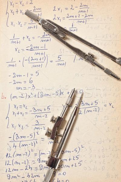 стороны написанный бумаги формула решения символ Сток-фото © grafvision