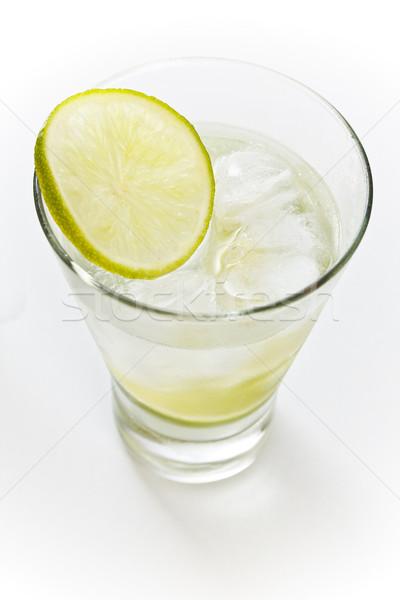 Vodka chaux glace blanche verre fruits Photo stock © grafvision