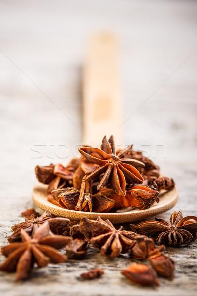 Star anason arka plan meyve tohumları Stok fotoğraf © grafvision