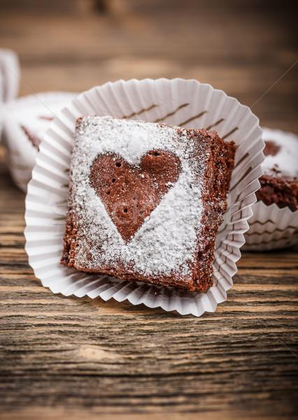Brownies Stock photo © grafvision