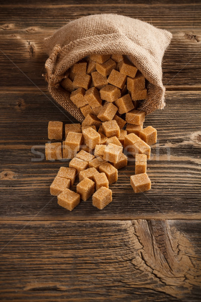 Brown sugar cubes Stock photo © grafvision