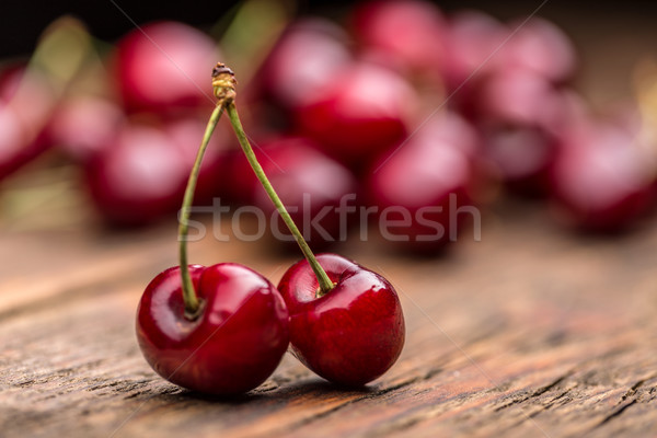 Sour cherry berries Stock photo © grafvision