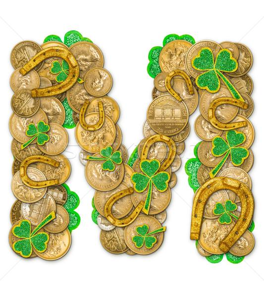 St. Patricks Day holiday letter M Stock photo © grafvision