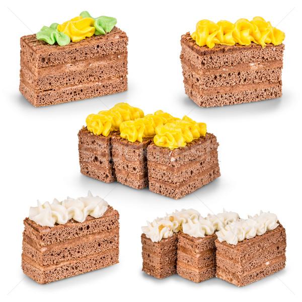 Chocolat différent décoration gâteau cuisson Photo stock © grafvision