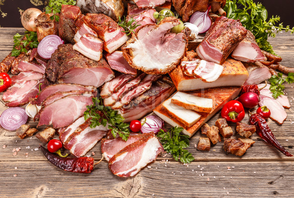 薫製 豚肉 肉 製品 食品 表 ストックフォト © grafvision