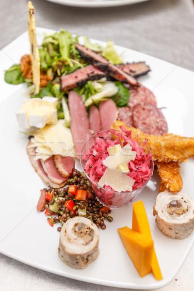 Aperitivo servido placa preparado profesional chef Foto stock © grafvision