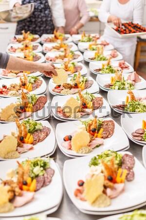 Antipasto alimentare lastre ristorante cucina piatto Foto d'archivio © grafvision
