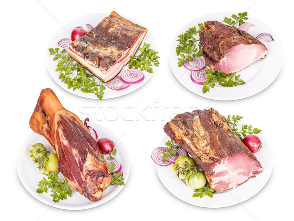 Pork meat products Stock photo © grafvision