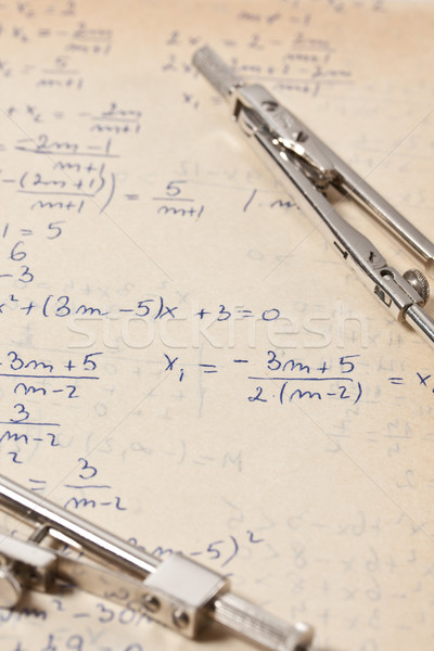 Algebral equations Stock photo © grafvision