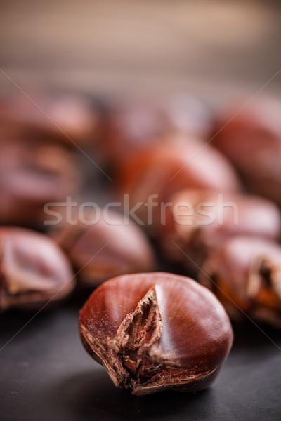 Eetbaar dienblad voedsel hot moer Stockfoto © grafvision