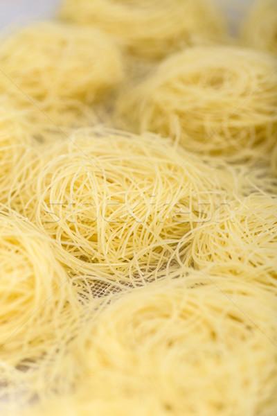 Italiaans pasta rauw voedsel textuur voedsel Stockfoto © grafvision