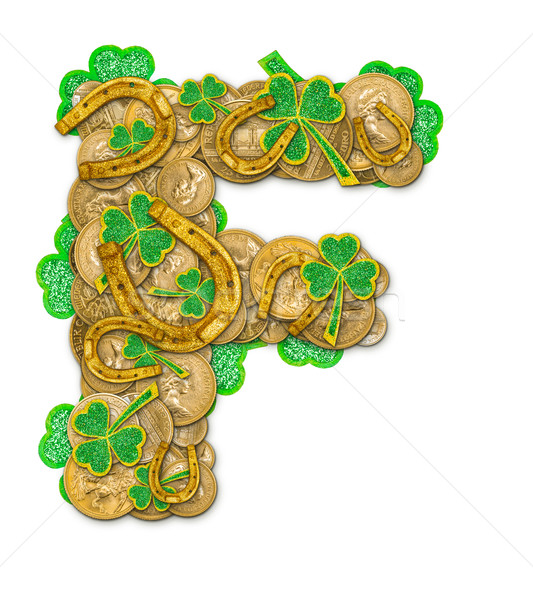 St. Patricks Day holiday letter F Stock photo © grafvision