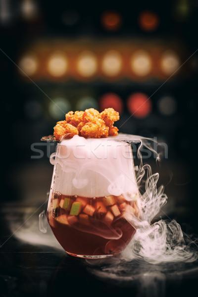 Gurmé dohányzás gyümölcs leves Seattle pattogatott kukorica Stock fotó © grafvision