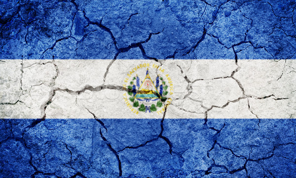 Republic of El Salvador flag Stock photo © grafvision