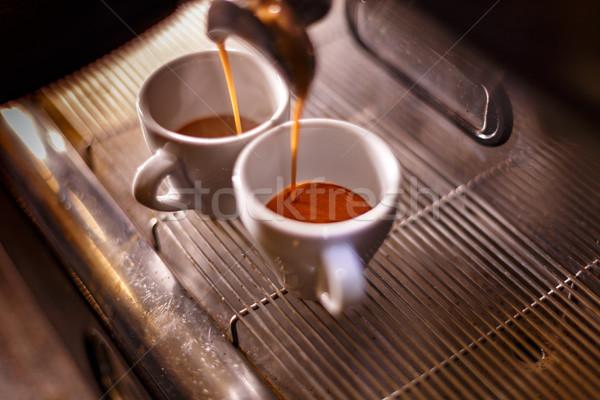Dorado café expreso máquina café Foto stock © grafvision