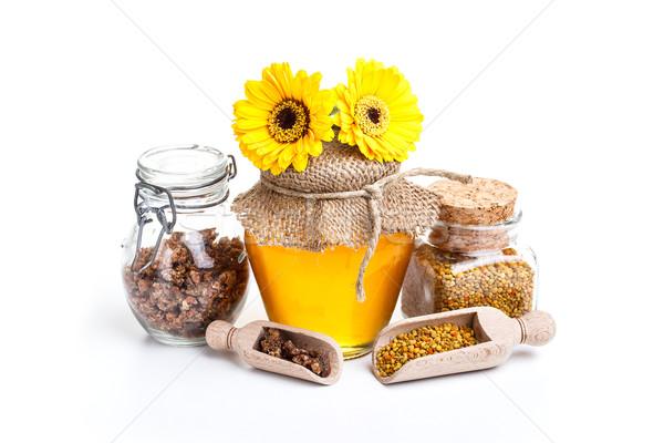 Fresche miele ancora vita bianco fiore legno Foto d'archivio © grafvision