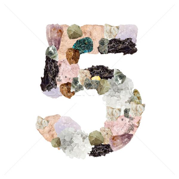 Minerali numero isolato bianco metal segno Foto d'archivio © grafvision