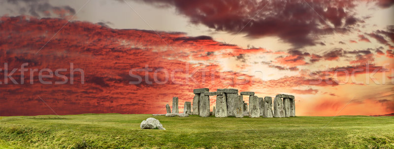Stonehenge anciens temple Voyage pierre couleur Photo stock © grafvision