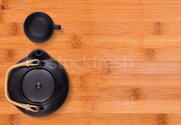 Little black tea cup Stock photo © grafvision