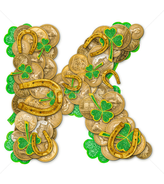 St. Patricks Day holiday letter K Stock photo © grafvision
