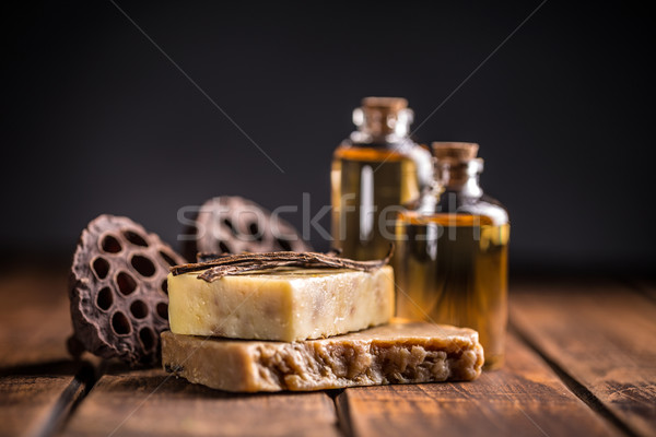 Cold processed handcrafted soap Stock photo © grafvision