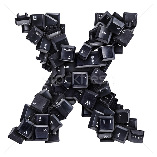 Stock photo: Letter X made of keyboard buttons