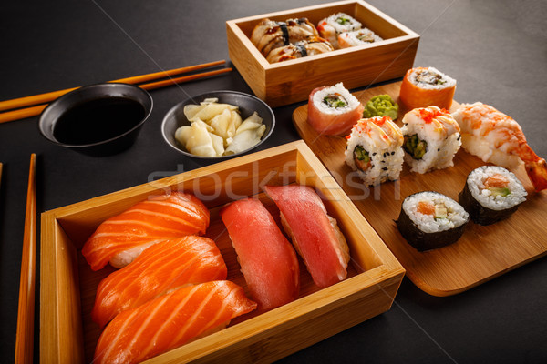 Stock photo: Sushi rolls composition