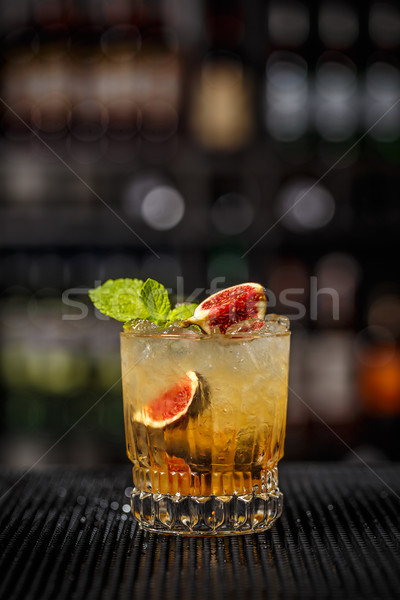 Cocktail with fig  Stock photo © grafvision
