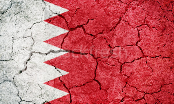 Kingdom of Bahrain flag Stock photo © grafvision