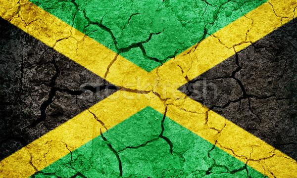 Jamaica zászló száraz Föld föld textúra Stock fotó © grafvision
