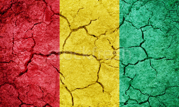República Guiné bandeira secar terra terreno Foto stock © grafvision
