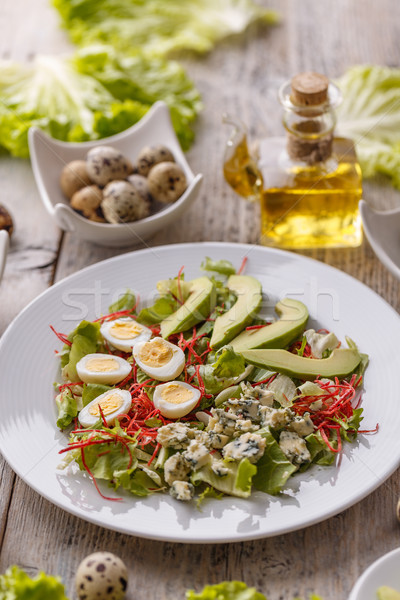 Salad with avocado Stock photo © grafvision