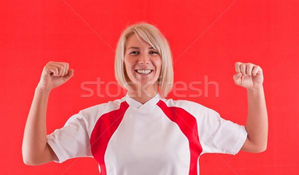 Winner handball player Stock photo © grafvision