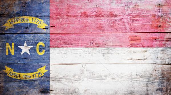 флаг Северная Каролина окрашенный текстуры Сток-фото © grafvision