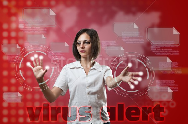Stock photo: Virus alert concept