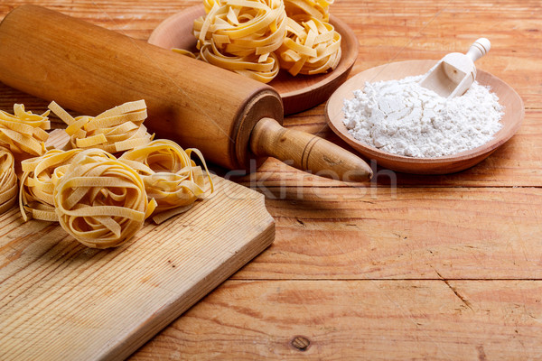 Pasta and rolling-pin Stock photo © grafvision