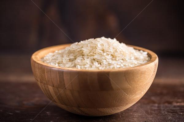 басмати риса чаши таблице белый Сток-фото © grafvision