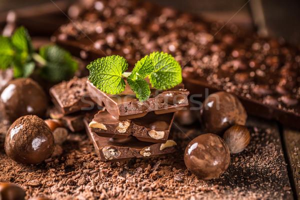 Assortiment sombre lait chocolat alimentaire Photo stock © grafvision
