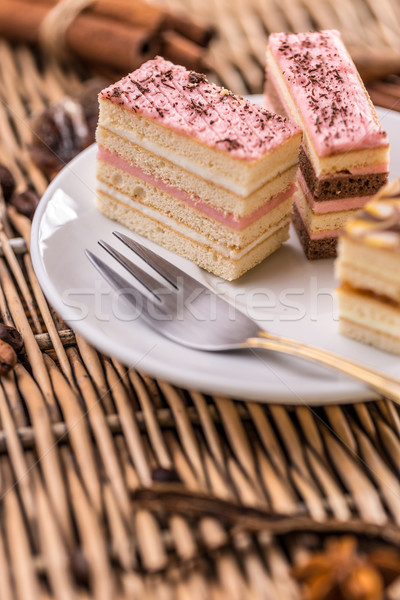 Layered mini cakes Stock photo © grafvision