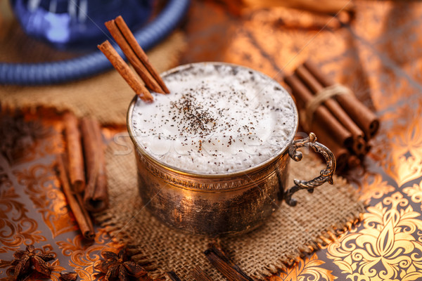 Chai latte spiced black tea Stock photo © grafvision