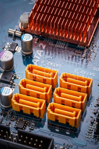 électronique circuit fond tech bord Photo stock © grafvision