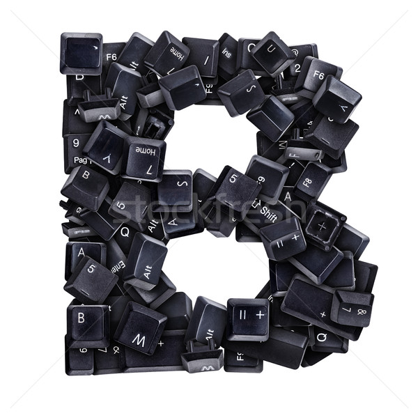 Letter B made of keyboard buttons Stock photo © grafvision