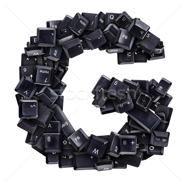 Letter G made of keyboard buttons Stock photo © grafvision