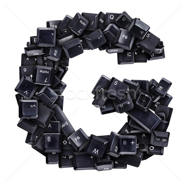 G betű billentyűzet gombok izolált fehér számítógép Stock fotó © grafvision