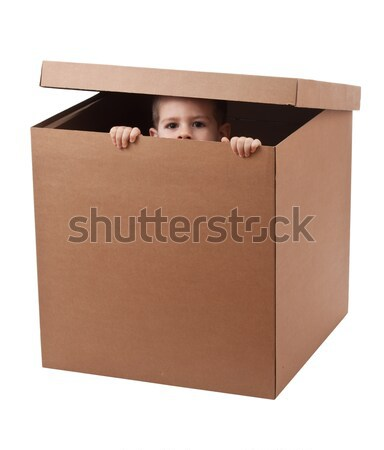 Boy peeping Stock photo © grafvision