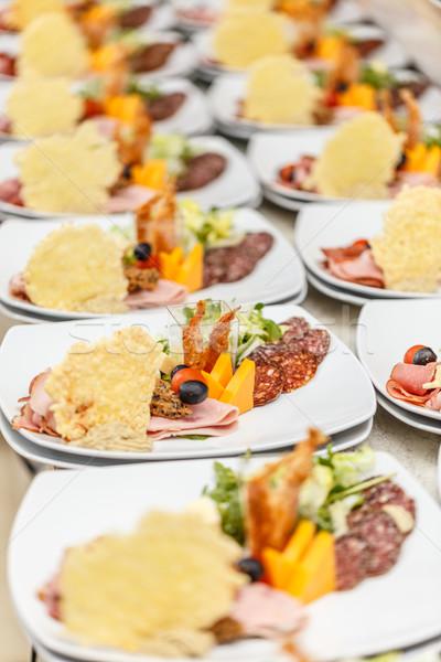 Delicioso aperitivo placas restaurante cozinha espera Foto stock © grafvision